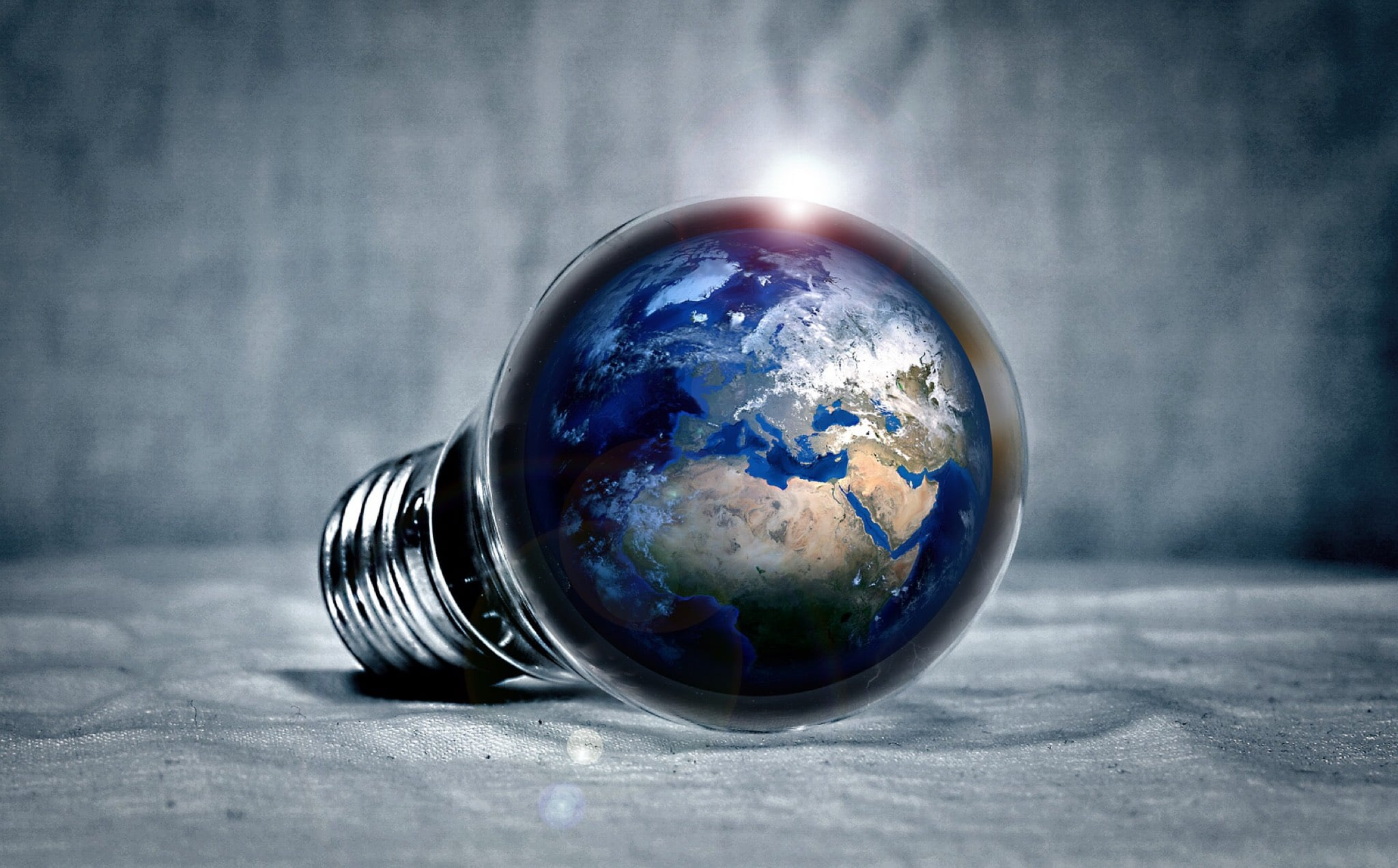 earth light bulb industrial