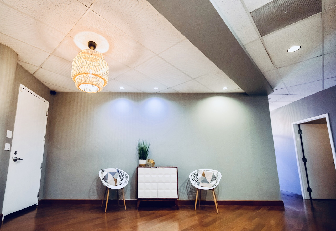 Haven spa waiting area